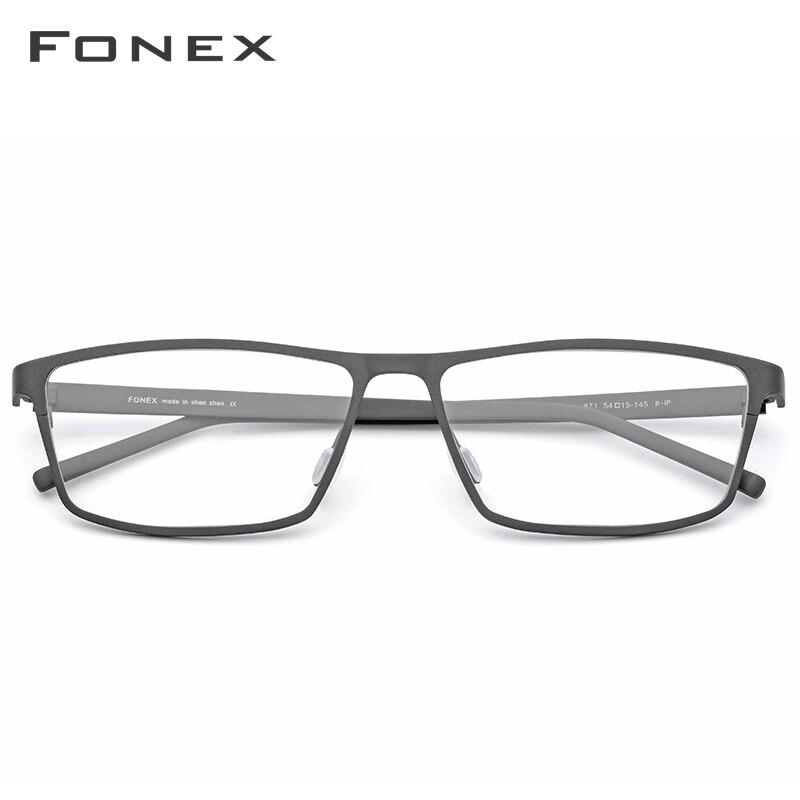 Montura de gafas de titanio puro FONEX montura de gafas 2019 nuevas gafas de prescripción para hombres gafas cuadradas montura óptica de miopía gafas - 2