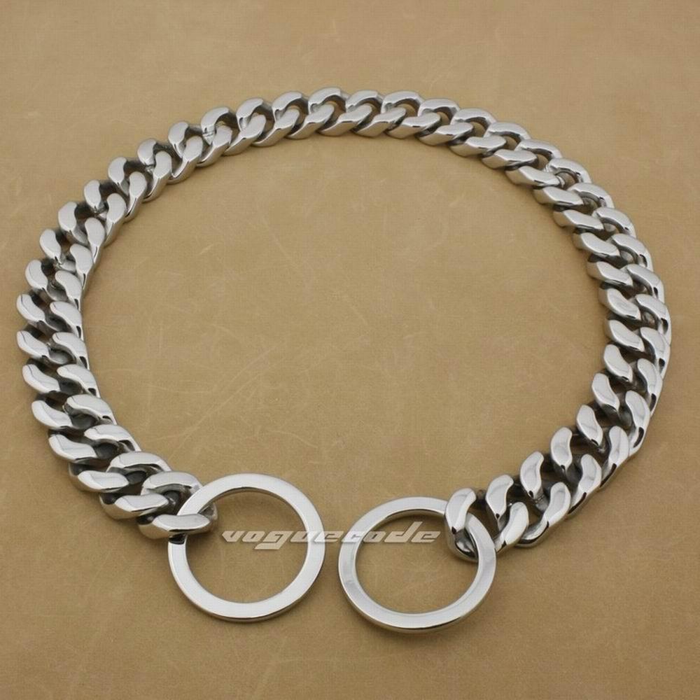Colliers de luxe énormes de chaînes de chien d'acier inoxydable de 20mm 316L 5D006DCA 18