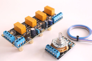 Image 4 - Amplifier board Chassis signal selection switch board audio source signal switching relay band with RCA AMPLIFIERS