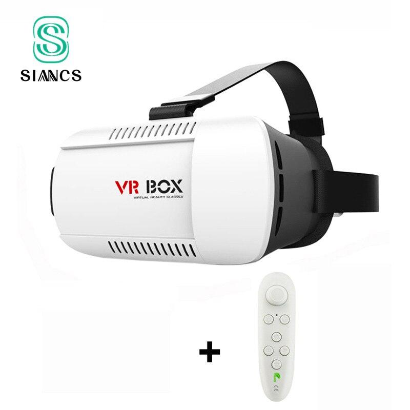 <font><b>Google</b></font> <font><b>Cardboard</b></font> <font><b>VR</b></font> BOX <font><b>Virtual</b></font> <font><b>Reality</b></font> Lunette 3D <font><b>Glasses</b></font> Goggles 3 D Helmet Remote Control Gamepad for iPhone Samsung Android