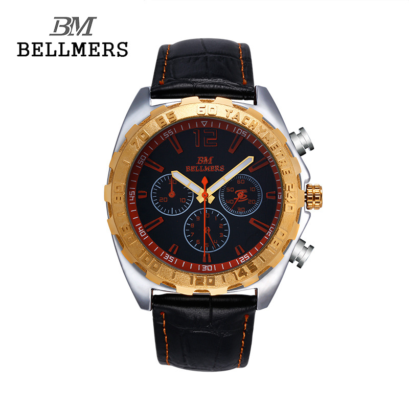 Relogio masculino BELLMERS Brand Luxury Leather Quartz Watch Men Business man clocks waterproof Hands Classic Male Clock