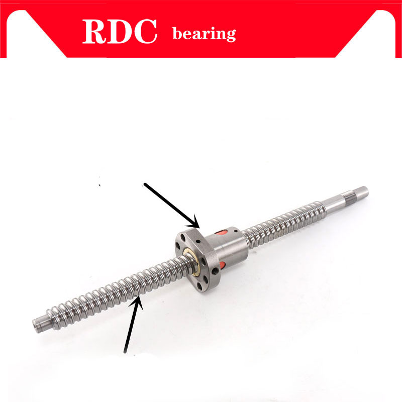 FREE SHIPPING machined SFU1204 1000 mm cold roller ball screw with 1204 single ball nut