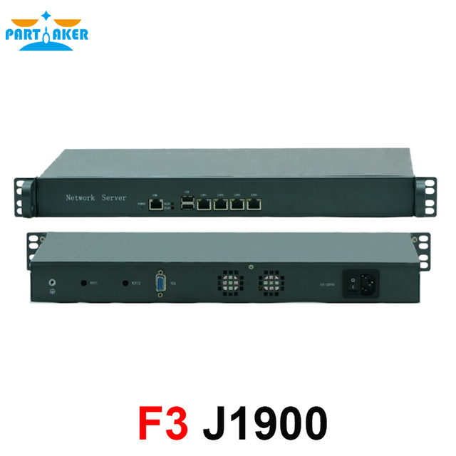 Cheap 1U Rack server J1900 4 Lan ethernet Firewall Security
