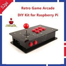 On sale 52Pi Retro Game Arcade DIY Kit with USB Joystick Control Board & Arcade Push Buttons & Joystick & Acrylic Box for Raspberry Pi 3