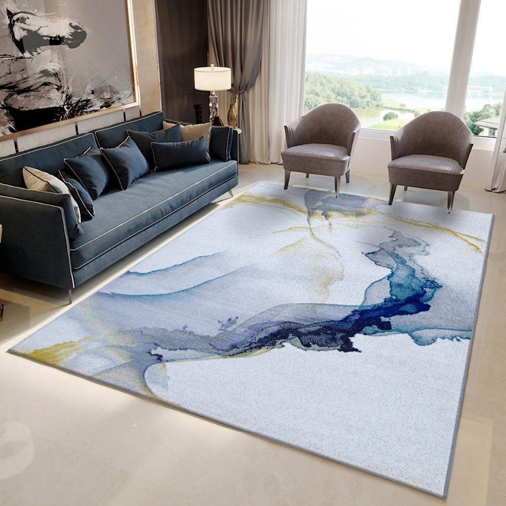 Nordic Carpets For Living Room Thick Polypropylene Bedroom Rug Modern Design Sofa Coffee Table Floor Mat