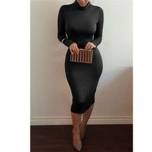 Free shipping 8 Colors 2016 Women s Sexy Slim Fashion Europe Style High Neck Clubwear font