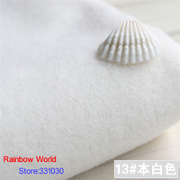 13 White 1 Meter One Side Brushed Imitation Woolen Garment Fabric For DIY Colthes Overcoat Skirt