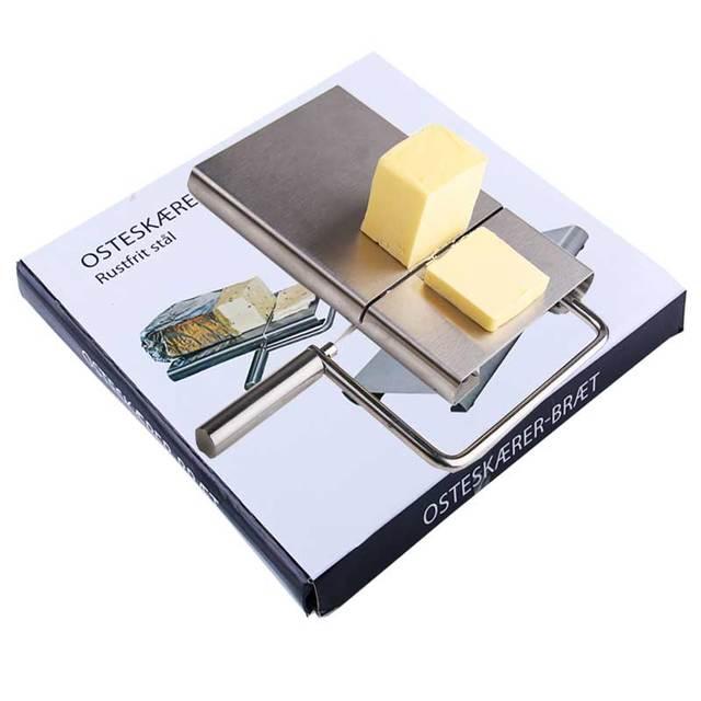 Acessórios de cozinha Placa de Manteiga Queijo Slicer Cortador De Fio de Corte cortador de faca do queijo do Aço Inoxidável do Cozimento Da Cozinha Ferramenta