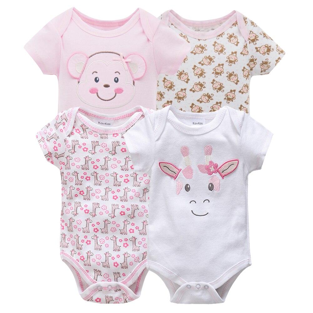 Kavkas/одежда для сна для маленьких мальчиков, комплект из 4 шт./компл., одежда с короткими рукавами для новорожденных, пижамы для мальчиков, Infantile, одежда для сна для маленьких мальчиков - Цвет: HY20822083