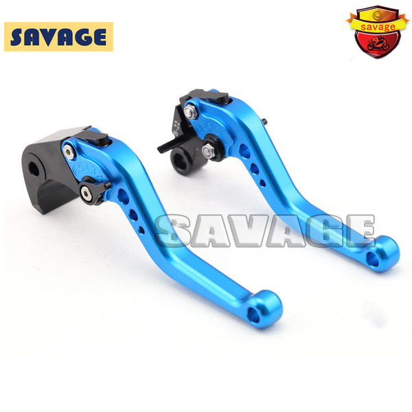 ФОТО For BMW F800GS F800R/GT/ST/S Motorcycle Accessories CNC Billet Aluminum Short Brake Clutch Levers Blue
