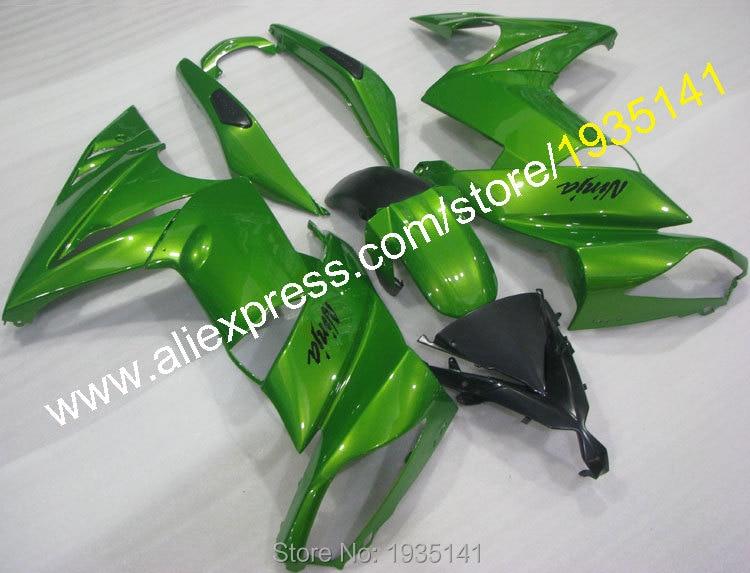 Hot Sales,For Kawasaki Ninja 650R ER6F 2009 2010 2011 green black body ER-6F 09 10 11 ER 6F Motorbike Aftermarket kit Fairing