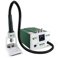 محطة لحام عالية الطاقة 1200 وات شاشة رقمية تعمل باللمس خالية من الرصاص بندقية حرارية الهواء محطة إعادة العمل الحرارية