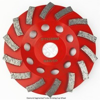 Dia125MM Segmented Turbo Diamond Grinding Cup Wheel For Concrete And Masonry Material 5 Inch Diamond Grinding