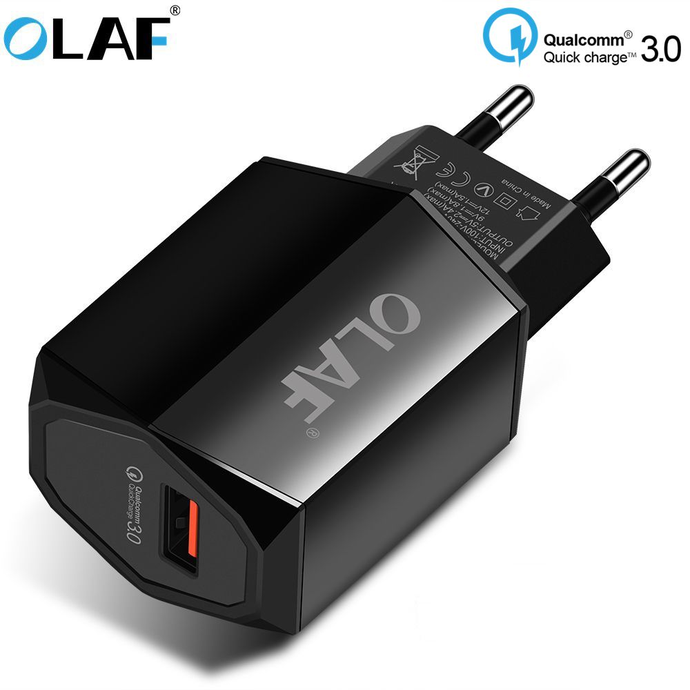 Olaf USB Quick Charge 3.0 2.0 Charger Adapter EU Plug Travel Wall QC 3.0 Charger For iPhone Samsung Xiaomi Mobile Phone Charger