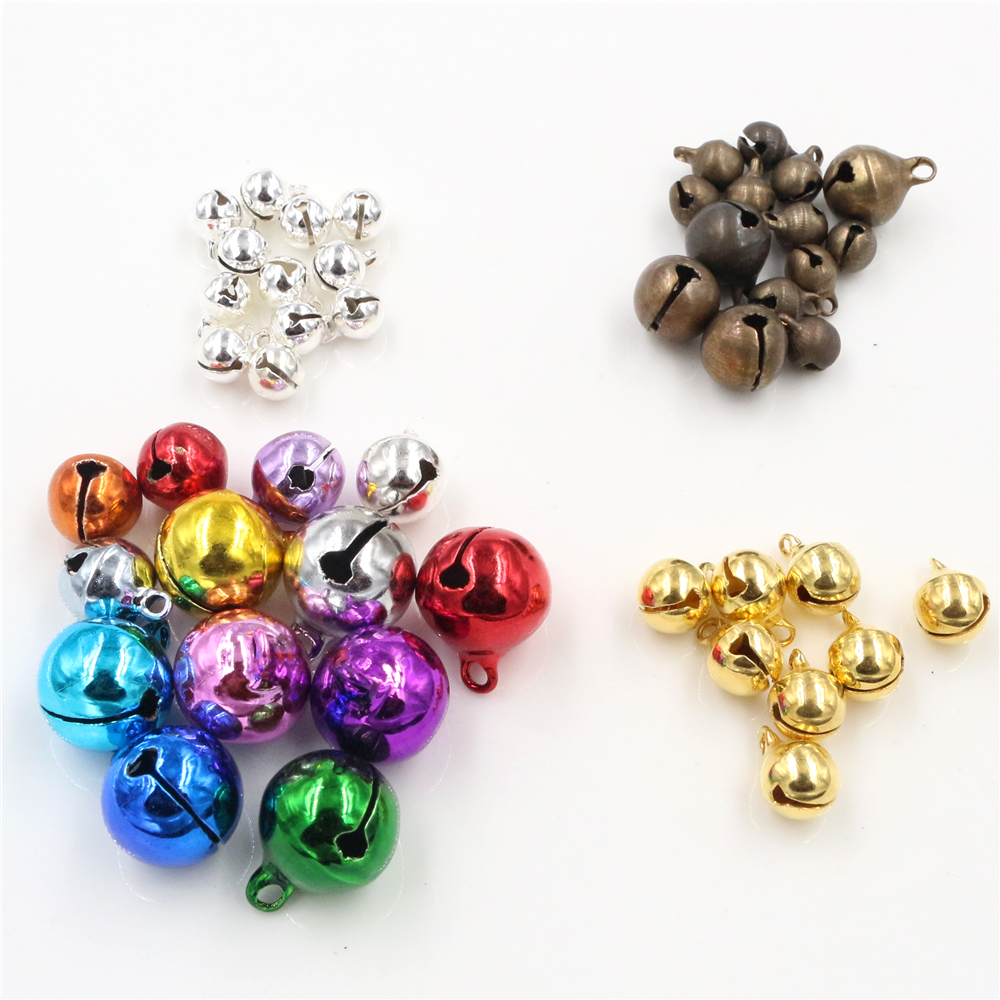 30pcs/Lot Copper European Retro Bells For Home Wedding Party Christmas Jewelry Campanula Accessories Christmas Tree Ornaments