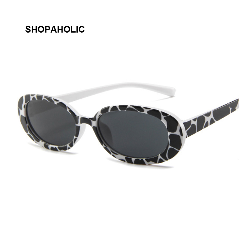 Women Oval Sunglasses Fashion Sun Glasses Women Vintage Glasses Female Translucent Lenses Lady UV400