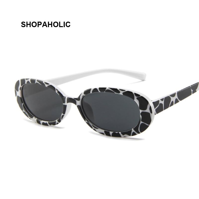 Women Oval Sunglasses Fashion Sun Glasses Women Vintage Glasses Female Translucent Lenses Lady UV400