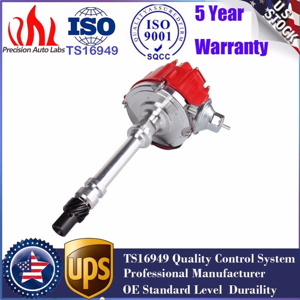 SBC BBC Small Big Block Chevy HEI Electronic Ignition Distributor Pro V8 Red Cap