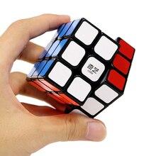 Cubo profesional QiYi 3x3x3 5,7 CM velocidad para rompecabezas antiestrés cubo mágico neo pegatina para niños juguetes educativos para adultos