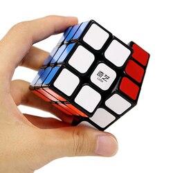 QiYi Cubo profesional 3x3x3 5,7 CM velocidad para magia antiestrés puzle Neo Cubo Magico pegatina para juguetes educativos para niños y adultos