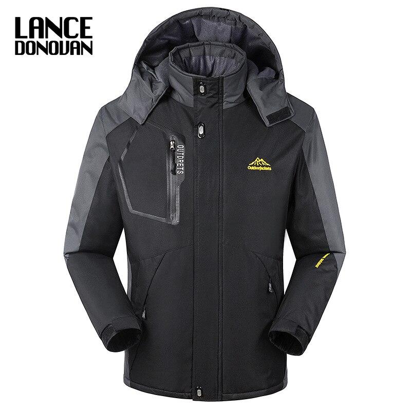 Новый 2017 лоскутное Повседневное зимнее пальто Для мужчин теплая верхняя одежда толстые куртки с парки с капюшоном Большие размеры L-8XL макс ...