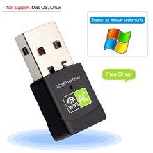 USB Wifi Adattatore Wifi USB Ethernet AC 600 Mbps Wi Fi Ricevitore Wi Fi Lan USB Adapter 2.4G 5Ghz PC Wifi Dongle Scheda di Rete