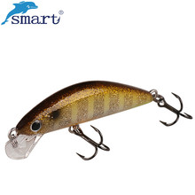 Smart Minnow Fishing Lure 45mm 3.7g Sinking Hard Bait VMC Hook Isca Isca Artificial Para Pesca Leurre Peche Dur Fishing Wobblers