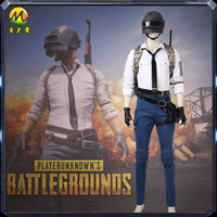Hot Game PUBG Costume Playerunknown's Battlegrounds Cosplay Costume For Halloween Carnival Dress With Level 3 Helmet Free Ship