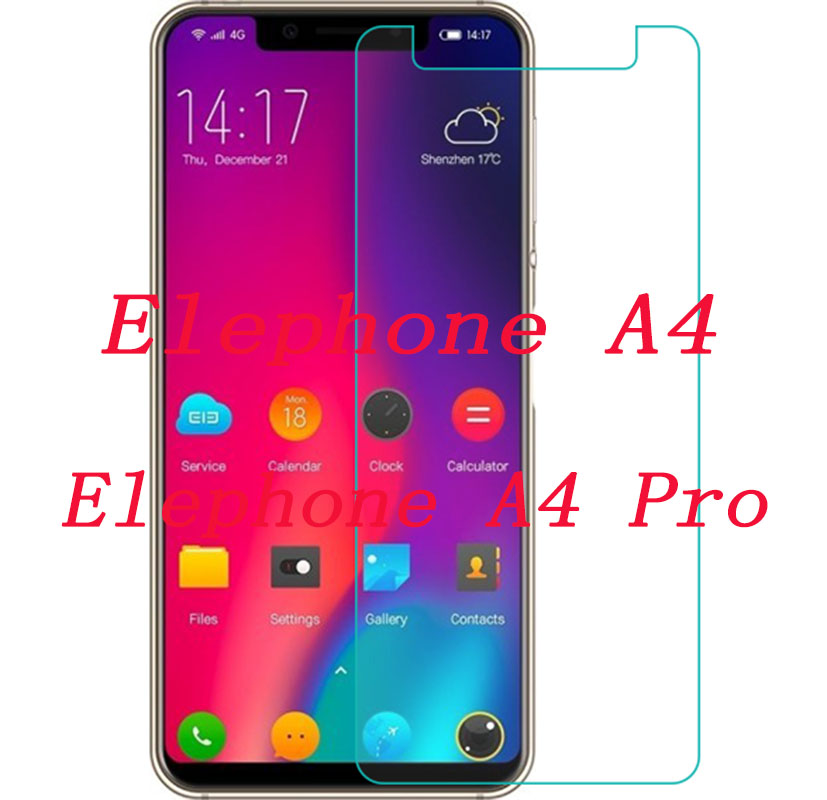 """Smartphone Tempered Glass for Elephone A4 / Pro A4pro 5.85"""" Explosion-proof Protective Film Screen Protector cover"""