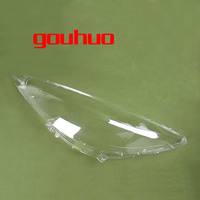 2pcs for Peugeot 408 09 12 headlamps transparent lampshade lamp shell plastic protective shell cover