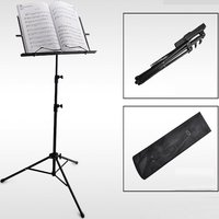 Sheet Folding Music Stand Aluminum Alloy Tripod Stand Holder with Carrying Bag