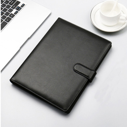 Portable A4 Padfolio cartera de negocios soporte de almohadilla de escritura carpeta de documentos estuche organizador A4 PU cuero para conferencia 1288B