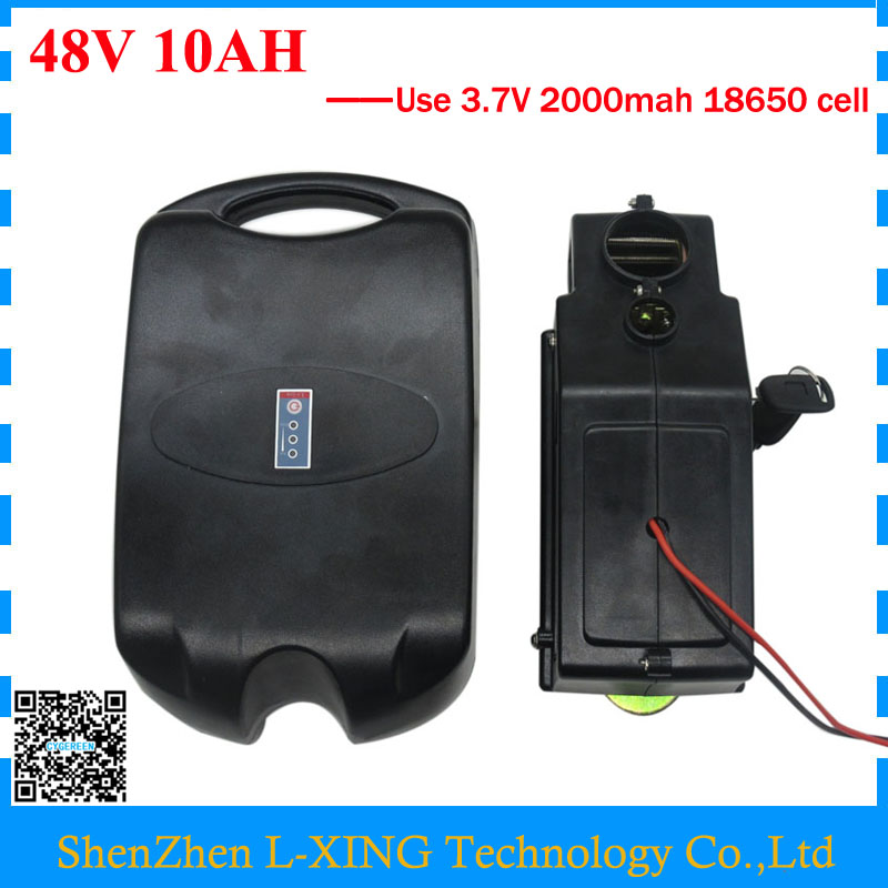 Free customs duty 48 V Electric Bike battery 48V 10AH 700W 48V 10AH Lithium battery use 3.7V 2000mah cell with 2A Charger free customs fee 1000w 36v 17 5ah battery pack 36 v lithium ion battery 18ah use samsung 3500mah cell 30a bms with 2a charger