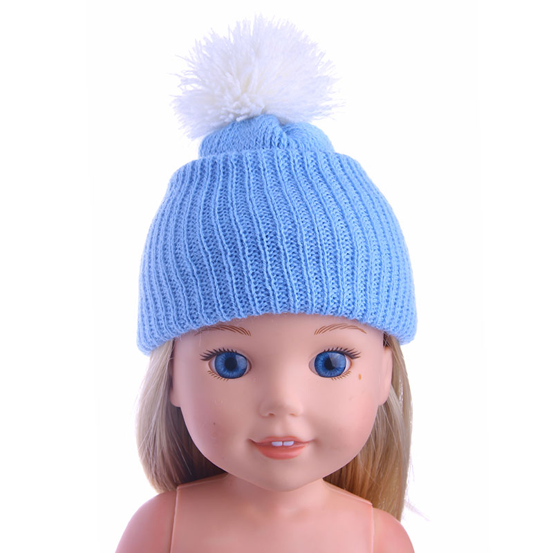 Best Sweet  Gift Blue Hat For American  14.5inch Wellie Wisher Doll Accessories