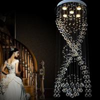 VALLKIN New Modern LED Crystal Chandeliers For Kitchen Room Bedroom Clear Color K9 Crystal Lustres De