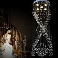 VALLKIN New Modern LED Crystal Chandeliers For Kitchen Room Bedroom Clear Color K9 Crystal Lustres De