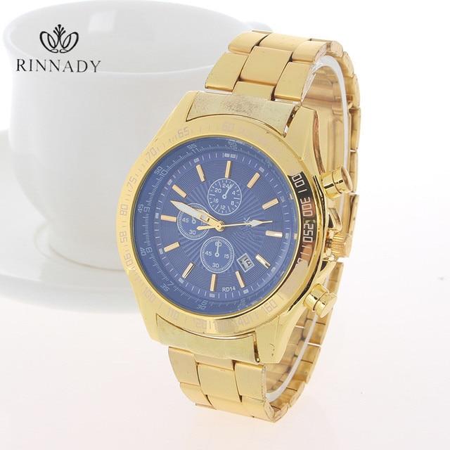 Assez Rinnady montre en or hommes montres marque de luxe célèbre montre  PQ58