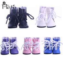 Doll Shoes 5 Color Leather Boots Fit 18 Inch American Doll&43 Cm Dolls Clothes Accessories,Girls Toys,Generation,Birthday Gift
