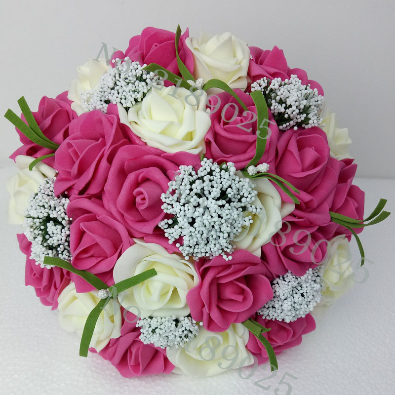 What Are Cheap Flowers For Weddings: Cheap Wedding Accessories Bridal Bouquet Pink Red Purple
