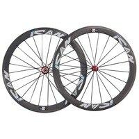 700C 50 mm pneu de carbone roues de vélo de route UD - mat avec des logos ican 1620 g paire bateau par sme sp - 50c