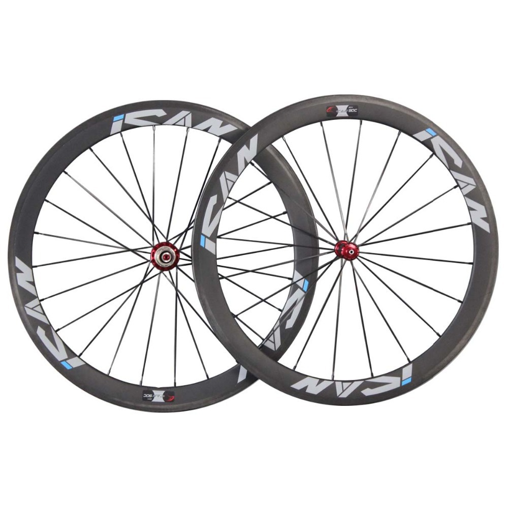 700C 50mm clincher carbon road bicycle wheels UD-matt with ican logos 1620g pair ship by EMS SP-50C bsi women s 651 bowling shoes