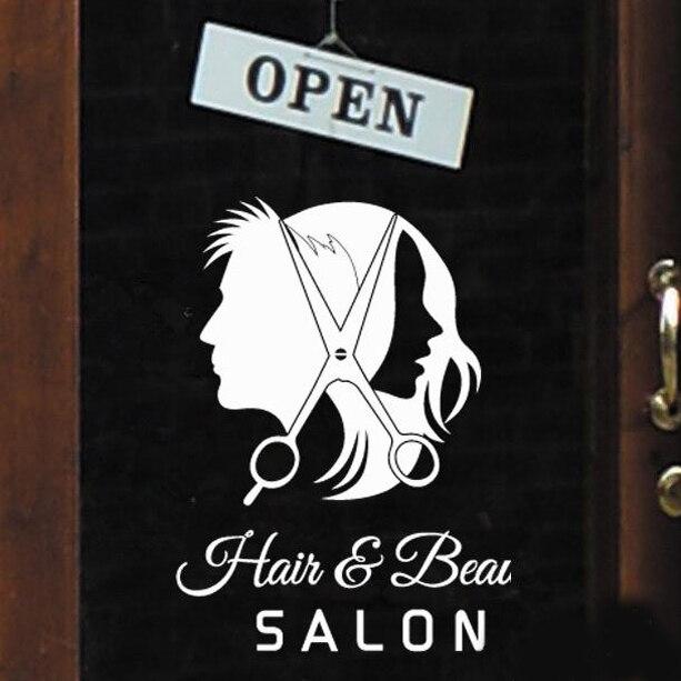 hair beauty wall stickers home decor home decoration barber shop true beauty wall sticker