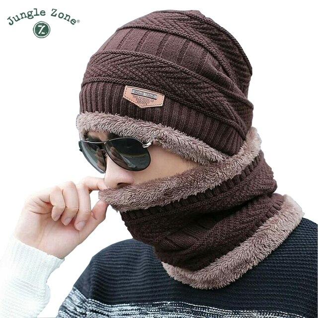 8bbb4054a25 Cou chaud de l hiver chapeau Brun hommes de casquettes hommes ski chapeau  Skullies bonnets