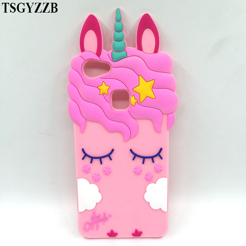 For OPPO F5 Case Silicon Cute 3D Black Cat Ears Beard Pink Unicorn Horse Cartoon Soft Phone Back Skin Cover