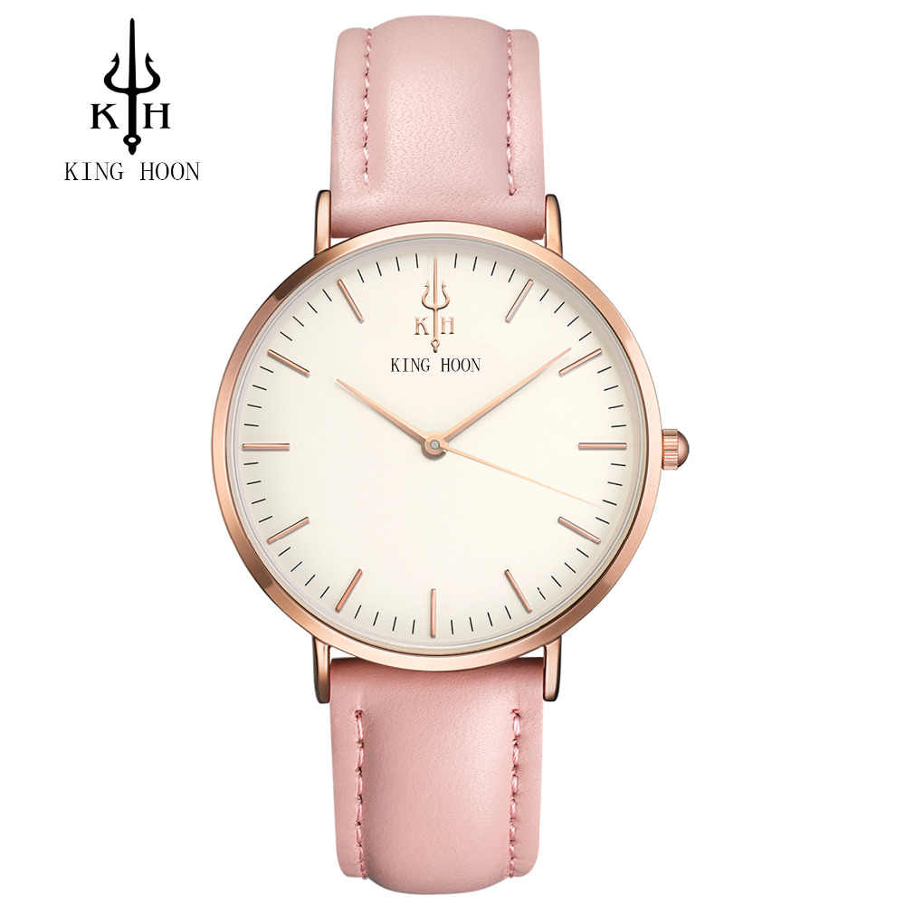 KING HOON Women Watches Fashion Brand Luxury Casual waterproof Clock 38MM Dress relogio masculino relogio feminino Watch Men
