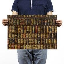 Коллекция пива, винтажная крафт-бумага, классический постер из фильма, школьный декор, гараж, Настенный декор, искусство, ретро, школьные принты