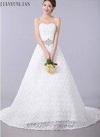Sweetheart Applique Zipper A Line Sweep Train Charming Button Lace Sexy Wedding Dress 2019 Bridal Dresses Vestido De Casamento