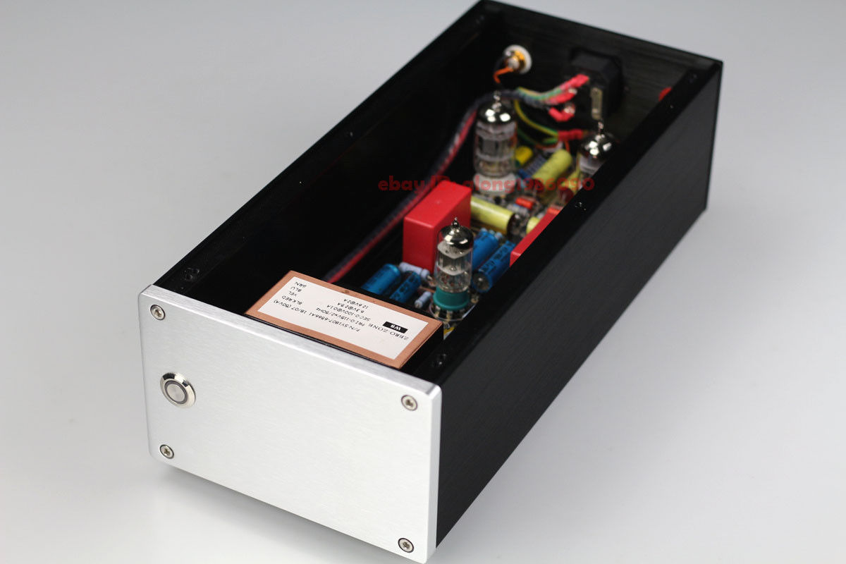 ZEROZONE Finished 12AX7 Tube MM RIAA Turntables Phono Amplifier base on SHUER M65 L7-43