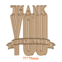 Thank You Hot Foil Plate Metal Cutting Dies Stencils for DIY Scrapbooking Photo Album Decor Embossing Paper Crafts Die Cut(China)