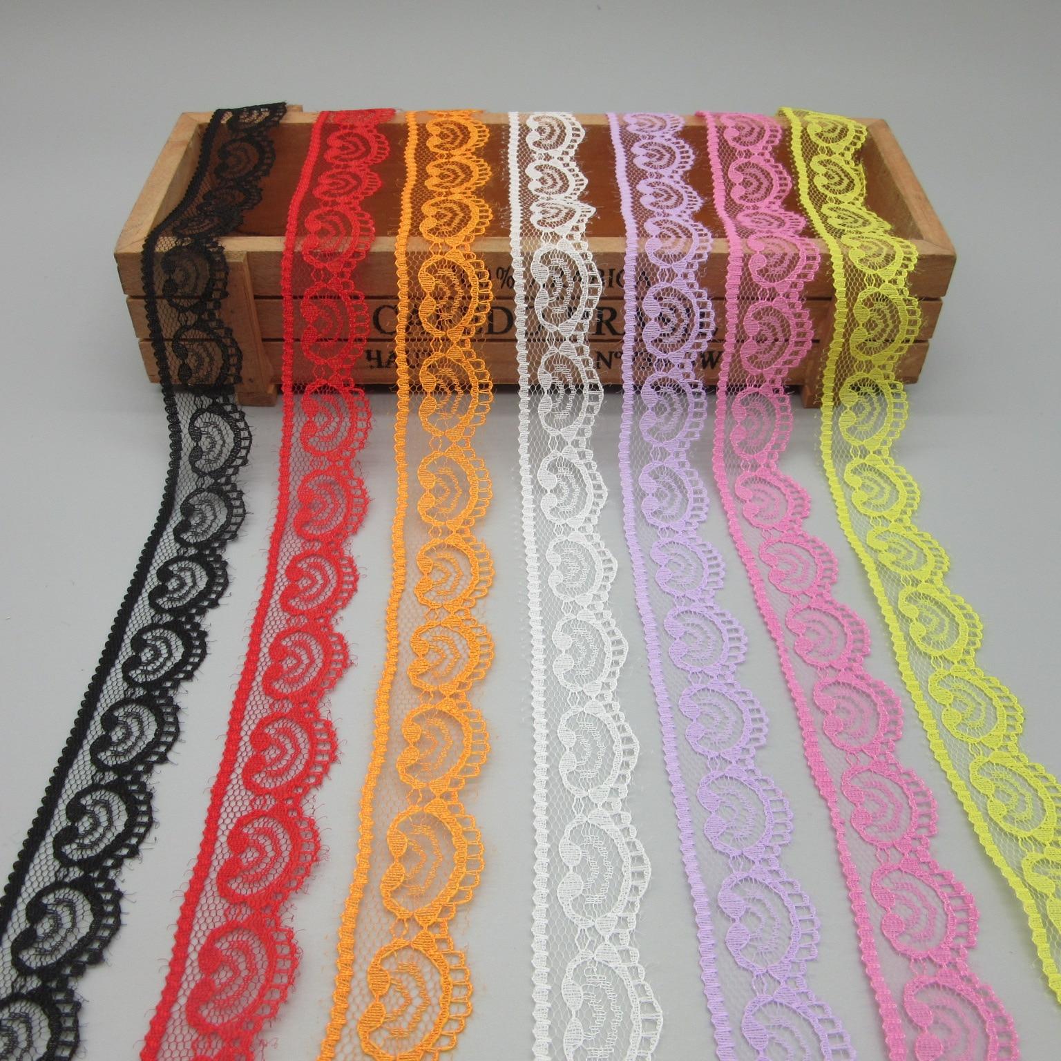 Красивые 10yard кружевной лентой скотч 45 мм широкий отделкой DIY ремесла вышитые шнур Швейные украшения африканских платье кружевной ткани